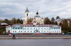 Città di Myškin sul fiume Volga Fotografia Stock