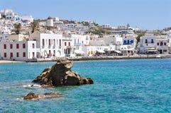Città di Mykonos, Grecia Immagine Stock