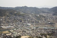 Città di Nagasaki Fotografia Stock