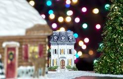 Città di Natale Fotografie Stock