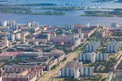 Città di Nižnevartovsk, vista superiore fotografia stock libera da diritti
