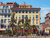 Città di Nizza - architettura lungo Promenade des Anglais Immagini Stock Libere da Diritti