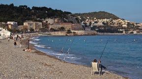 Città di Nizza - baia di angelo Fotografia Stock Libera da Diritti