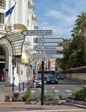 Città di Nizza - cartello della strada Fotografia Stock