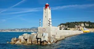 Città di Nizza - faro Fotografia Stock Libera da Diritti