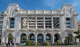 Città di Nizza - palazzo del Mediterraneo dell'hotel Fotografia Stock