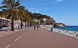 Città di Nizza - Promenade des Anglais Immagini Stock Libere da Diritti