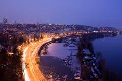 Città di notte Fotografia Stock