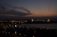 Città di notte Immagini Stock Libere da Diritti