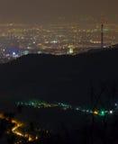 Città di notte, Almaty Fotografia Stock Libera da Diritti