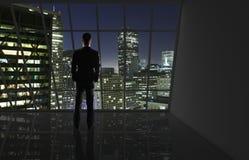 Città di notte di vista Fotografia Stock
