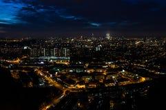 Città di notte, Kuala Lumpur, Malesia Immagini Stock