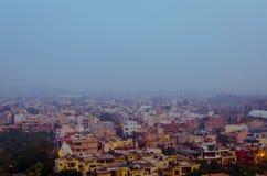 Città 2016 di Nuova Delhi di vista aerea di inquinamento di Delhi India Fotografie Stock