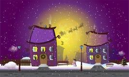 Città di nuovo anno Illustrazione di Stock
