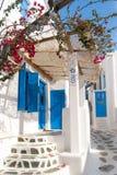 Città di OIA sull'isola di Santorini Thira Immagini Stock Libere da Diritti