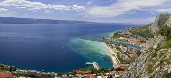 Città di Omis Croazia fotografie stock libere da diritti