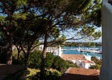 Città di Oporto Cervo Oporto Cervo è capitale di Costa Smeralda Sardinia Italy fotografie stock libere da diritti