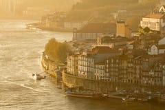Città di Oporto nel tramonto Immagine Stock Libera da Diritti