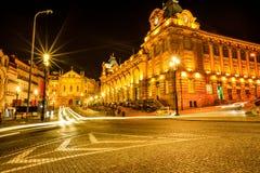 Città di Oporto di notte Immagini Stock