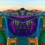 Città di Oporto - Portogallo - i colori del fiume del Duero illustrazione di stock