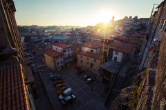 Città di Oporto, tramonto Immagini Stock