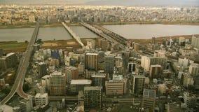 Città di Osaka nel lasso di tempo di pomeriggio stock footage