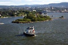 Città di Oslo e di Oslofjord Immagini Stock