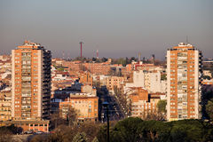 Città di paesaggio urbano di Madrid Fotografie Stock Libere da Diritti