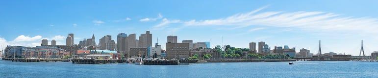 Città di panorama di Boston Immagine Stock