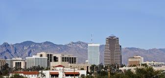 Città di panorama di Tucson, AZ immagini stock