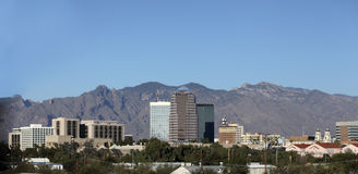 Città di panorama di Tucson, AZ Fotografia Stock Libera da Diritti