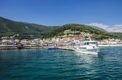 Città di Parga - Grecia - Mar Ionio fotografie stock