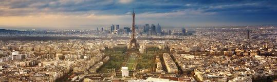 Città di Parigi in Francia dal tramonto Immagine Stock Libera da Diritti