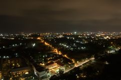 Città di Pataya alla notte Fotografie Stock Libere da Diritti