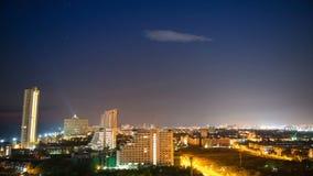 Città di Pattaya alla notte archivi video