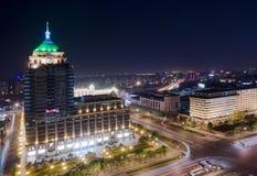Città di Pechino di notte Fotografia Stock Libera da Diritti