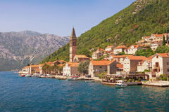 Città di Perast Il Montenegro Baia di Kotor, Montenegro Immagini Stock