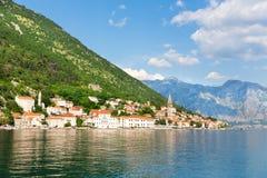 Città di Perast, Montenegro Fotografia Stock Libera da Diritti