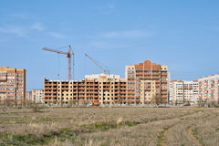 Città di periferie di Aqtöbe Fotografia Stock