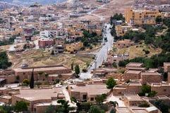 Città di PETRA della Giordania fotografie stock