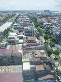 Città di Phnom Penh fotografia stock libera da diritti