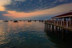 Città di pietra Zanzibar di tramonto Immagini Stock