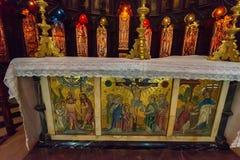 CITTÀ DI PIETRA, ZANZIBAR - 9 GENNAIO 2015: Altare della cattedrale della chiesa di Cristo Immagine Stock
