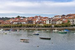 Città di Plentzia a Vizcaya immagini stock
