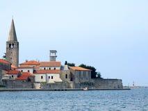 Città di Porec - il Croatia immagini stock libere da diritti