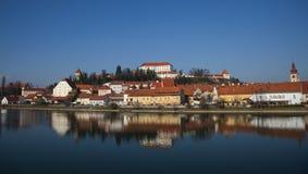 Città di Ptuj, Slovenia, Europa centrale Fotografia Stock Libera da Diritti