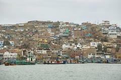 Città di Pucusana, Perù Fotografia Stock Libera da Diritti