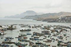 Città di Pucusana, Perù Fotografia Stock