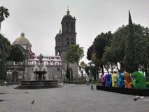 Città di Puebla Fotografia Stock Libera da Diritti