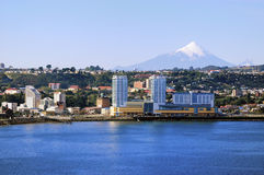 Città di Puerto Montt fotografia stock